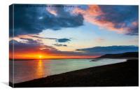 Sunset Seascape Wales, Canvas Print