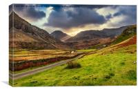 Roman Road To Snowdonia, Canvas Print