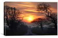 Sunset over Ringstead, Canvas Print