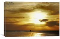 Kite surfers at Hunstanton, Canvas Print