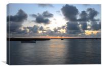 Brancaster Staithe sunset, Canvas Print