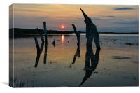 High tide over Thornham marsh, Canvas Print