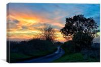 Sandringham estate sunset, Canvas Print