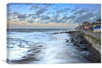 Breaking waves in Sheringham, Canvas Print