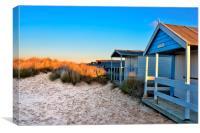 Old Hunstanton beach huts, Canvas Print