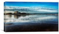 Brancaster beach and golf club, Canvas Print
