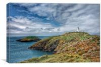 Strumble Head lighthouse Pembrokeshire, Canvas Print