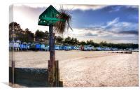 Beach huts Wells next the sea, Canvas Print