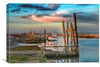 High tide at Thornham quay, Canvas Print