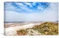 Holkham beach, Canvas Print