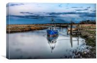 Fishing boats at Thornham quay, Canvas Print