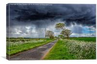 Storm clouds over Ringstead, Canvas Print