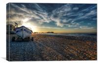 Cromer beach sunset, Canvas Print