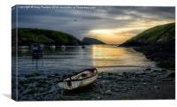 Abercastle harbour sunset, Canvas Print