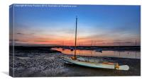 After the sunset Brancaster Staithe, Canvas Print