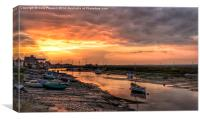 Sunset over the old granary, Canvas Print