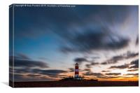 Happisburgh lighthouse ( no.2 ) , Canvas Print