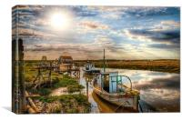 A perfect day at Thornham, Canvas Print