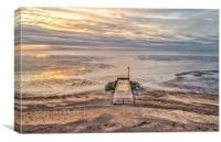 Sunset on Heacham beach, Canvas Print