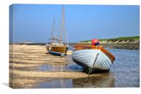 Her Majesty II at Burnham Overy Staithe , Canvas Print