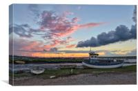 Sunset over the Staithe , Canvas Print
