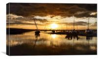 Sunset after the rain - Brancaster Staithe, Canvas Print