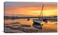Sunrise at Burnham Overy Staithe, Canvas Print