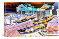 Fishing boats at Sheringham, Canvas Print