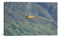 airlift from Ben Nevis, Canvas Print