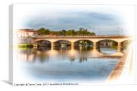 Le Pont de Jarnac, Canvas Print