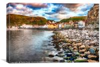 Staithes on the Rocks, Canvas Print