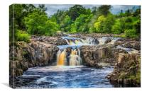 Low Force, River Tees, Canvas Print