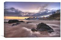 Tenby Harbour Winter Sunrise, Canvas Print