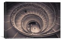 Spiral staircase by Giuseppe Momo, Canvas Print