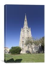 Church tower in Thaxted, Canvas Print