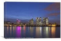 Canary Wharf financial district, Canvas Print