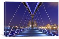 The Lowry bridge in Salford, Canvas Print