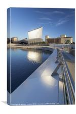 Imperial War Museum North in Salford, Canvas Print