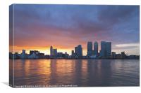 Canary Wharf view, Canvas Print