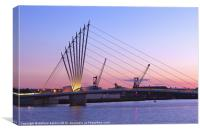 Media City footbridge, Canvas Print