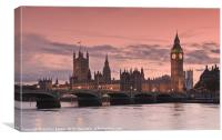 The houses of parliament,London,UK, Canvas Print
