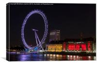 London eye, London, England, Canvas Print