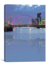 Glasgow sqinty bridge, Canvas Print