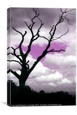 Purple sky tree, Canvas Print