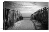 The sea gate, Canvas Print