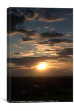 Sunset over Mansfield vertical, Canvas Print