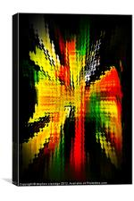 Colour splash abstract, Canvas Print