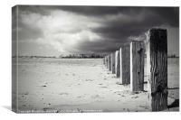 The Beach Monochrome, Canvas Print
