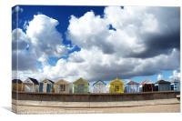 Chapel point beach huts 2, Canvas Print