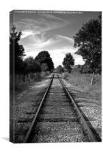 The train line, Canvas Print